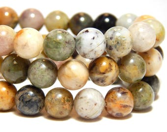 8mm Moss Agate, 8mm Purple Moss Agate, 8mm Agate, Natural Stone Beads, 8mm Moss Agate, 8mm Earthy Gemstones, 8mm Gemstones,  B-29C