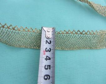 Gold Lace trim,Gift Lace ribbon