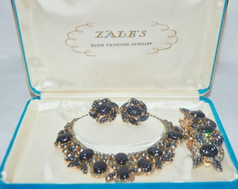Vintage Costume Jewelry Demi Parade Set: Necklace, Bracelet, and Earrings