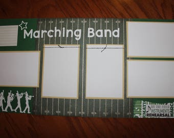 12 x 12 Marching Band premade scrapbook layout (2 page layout), school, marching band scrapbook layout, premade marching band scrapbook