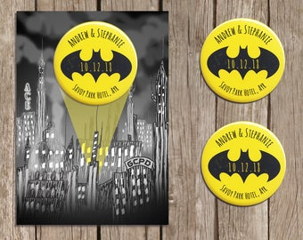 Batman Inspired Save the Date Magnet