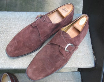 Zelli Used Brown Suede Leather Oxfords 12
