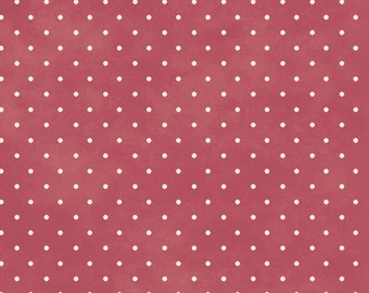 Pin Dots - Rose/Cream by Maywood Studio (609-R4) Cotton Fabric Yardage