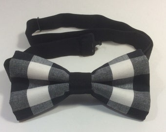 bow tie black white plaid men teen cotton pre tied neckband clip on bow ties are cool prom