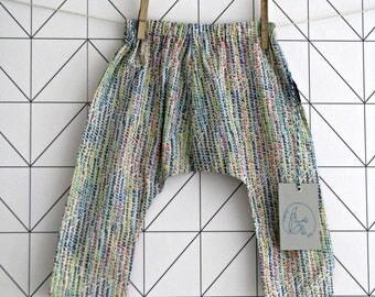 Liberty harem pants, sarouel for toddlers, Milla
