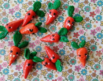 cute carrot polymer charm