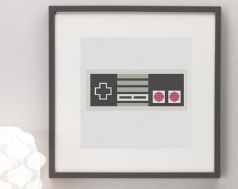 Nintendo NES Controller Cross Stitch Pattern
