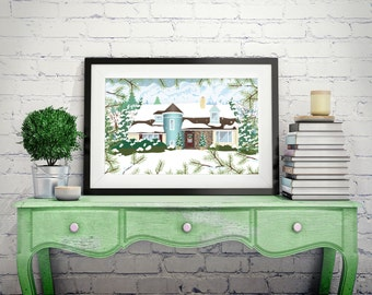 Home Illustration • Moving Announcement • Turn Your Home Into a Work of Art •Wedding Gift • New Home