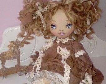 art doll - textile art doll - textile doll - handmade doll