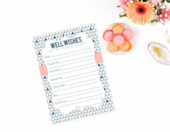 Printable Well Wishes Advice For The Couple Marriage Advice