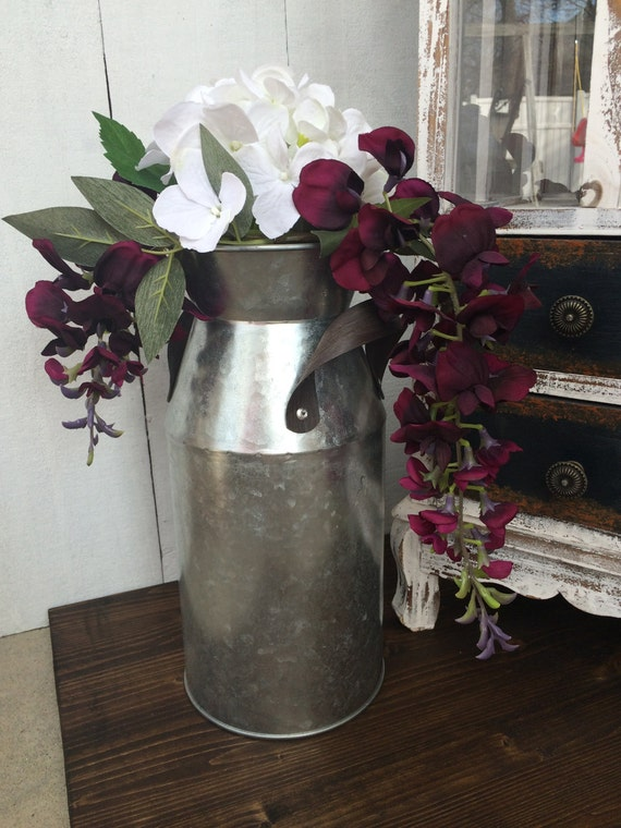 Galvanized Home Decor Milk Container Milk