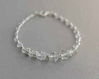 MIA | Crystal Bridal Bracelet, Bridal Cuff, Wedding Bracelet