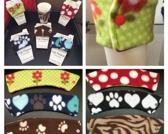 Reversible Cup Sleeve / Reversible Coffee Cup Sleeve/ Reversible Cup Cozy / Reversible To Go Sleeve