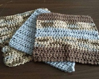Crocheted Washcloths - 100% cotton