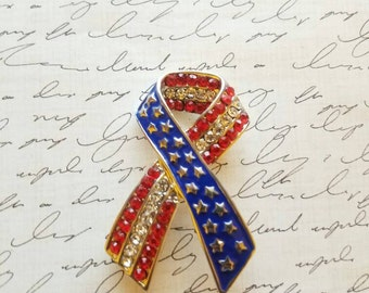 American Flag Brooch Fancy Brooches Red White and Blue Clothes Pin Star Brooches Gifts for Her Independence Day Jewelry Statement Brooches