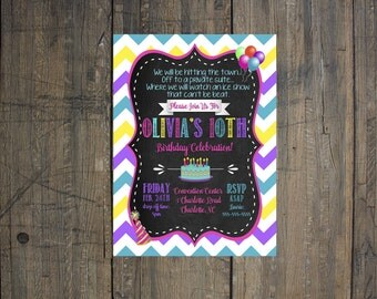 Birthday Party Invitation - Girls Birthday, Boys Birthday, Party Invitation