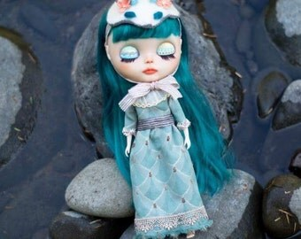 4x6 Print set of Custom Blythe Haku circa 2015