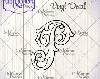 DIY...Iron On Heat Transfer Vinyl Single Letter Floural Monogram Decal
