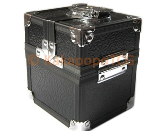 Km-S02 Black Lockable Metal Deck Box or Dice Box for TCG Mtg Yugioh Pokemon Top loaders Magic the gathering Card Vanguard EDH Commander