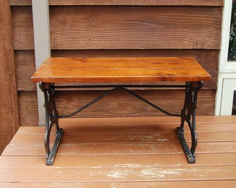Iron coffee table etsy for Cast iron outdoor coffee table
