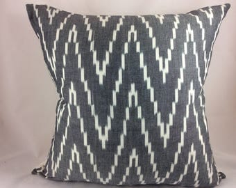 "Schumacher ""KASARI"" Ikat in graphite-both sides"