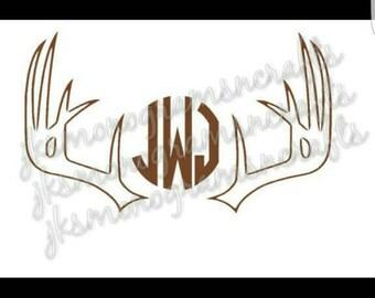 Deer Antlers SVG cut file