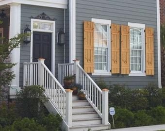 Cedar Farmhouse Style Shutters - Rustic Farmhouse Window Shutters - Cedar Shutters - Rustic Shutters