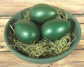 Primitive Rustic Country Easter Faux Eggs, Ornie Bowl Filler, Spring Decor, Set of 3