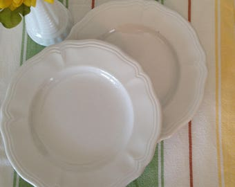Set of 2 (two) Federalist Ironstone Luncheon/Salad Plates
