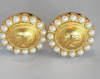 """Karl Lagerfeld """"pearl"""" clip on earrings"""
