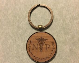 NP, Nurse Practitioner Keychain