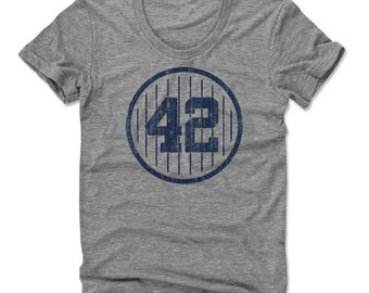 Mariano Rivera 42 B New York Officially Licensed Women's Scoop Neck T-Shirt S-XL