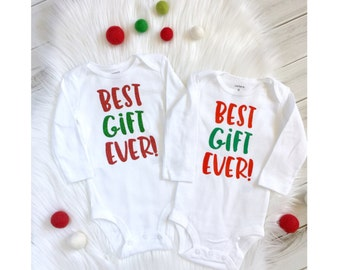 Best gift ever, christmas onesie, Christmas bodysuit, first christmas, baby shirt, baby gift, holiday baby onesie