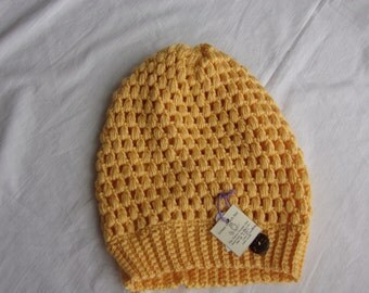 Urban slouchy beanie, Ready to ship,Medium,YELLOW, winter hat, handmade hat, soft hat, crochet hat, fashion accessory