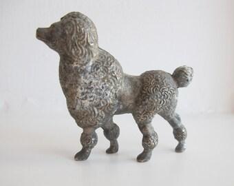 Vintage metal poodle dog. Woof!