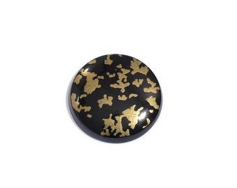 Black Goldenite Quartz Round Cabochon Loose Gemstone 1A Quality 17mm TGW 8.55 cts.