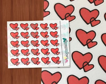 Hearts Icon - Planner Stickers - ECLP, Happy Planner, Filofax, scrapbooking and more!
