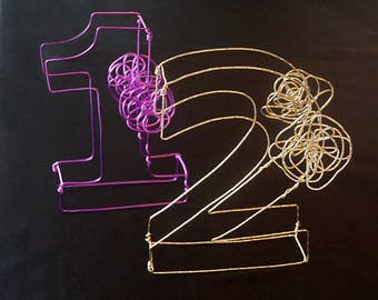 3D Decorative Wire Number
