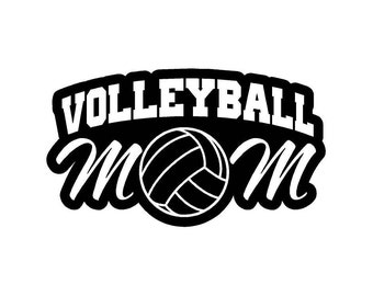 Volleyball  Mom Car Decal w/Volleyball