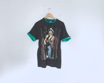 Alan Jackson tour t shirt, band merch, 1990, size large made in usa