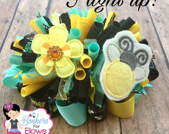 Firefly bow, lightening bug hair bow
