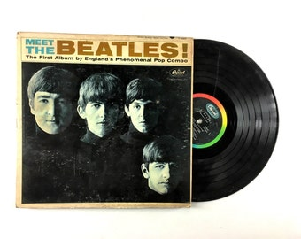 25% OFF The Beatles Meet The Beatles LP Album 1964 Budget Copy I Want To Hold Your Hand John Lennon Fab Four Vinyl Record