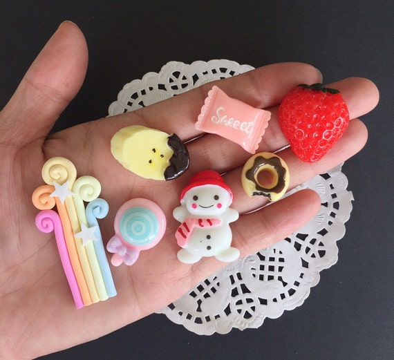 Miniature Cabochon,Miniature Mix Cabochon,Miniature Sweet,Mobile Accessories,Miniature DIY,Miniature Resin DIY Mobile Case