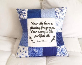 Essential Oil Diffuser Pillow Cover ~ Song of Solomon 1:3