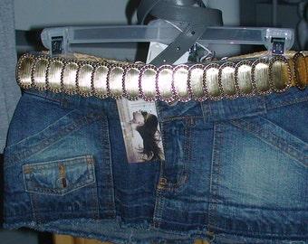 Sybil Resurrected Fredericks VTG Jean Ultra Mini Skirt, small