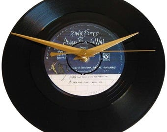 Pink Floyd Vinyl Record Clock Another Brick In The Wall gift for prog rock music fan decor david gilmour roger waters birthday present idea