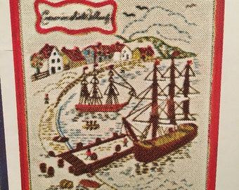 """Bucilla """"Colonial America"""" Olde Salem Crewel Embroidery Picture Kit #1996 - New Old Stock"""