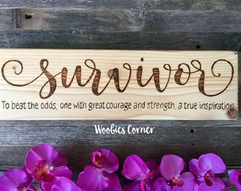 Cancer Survivor, Breast Cancer Awareness, Cancer survivor gift, Cancer gifts, Cancer awareness, Inspirational sign, Breast cancer, Survivor