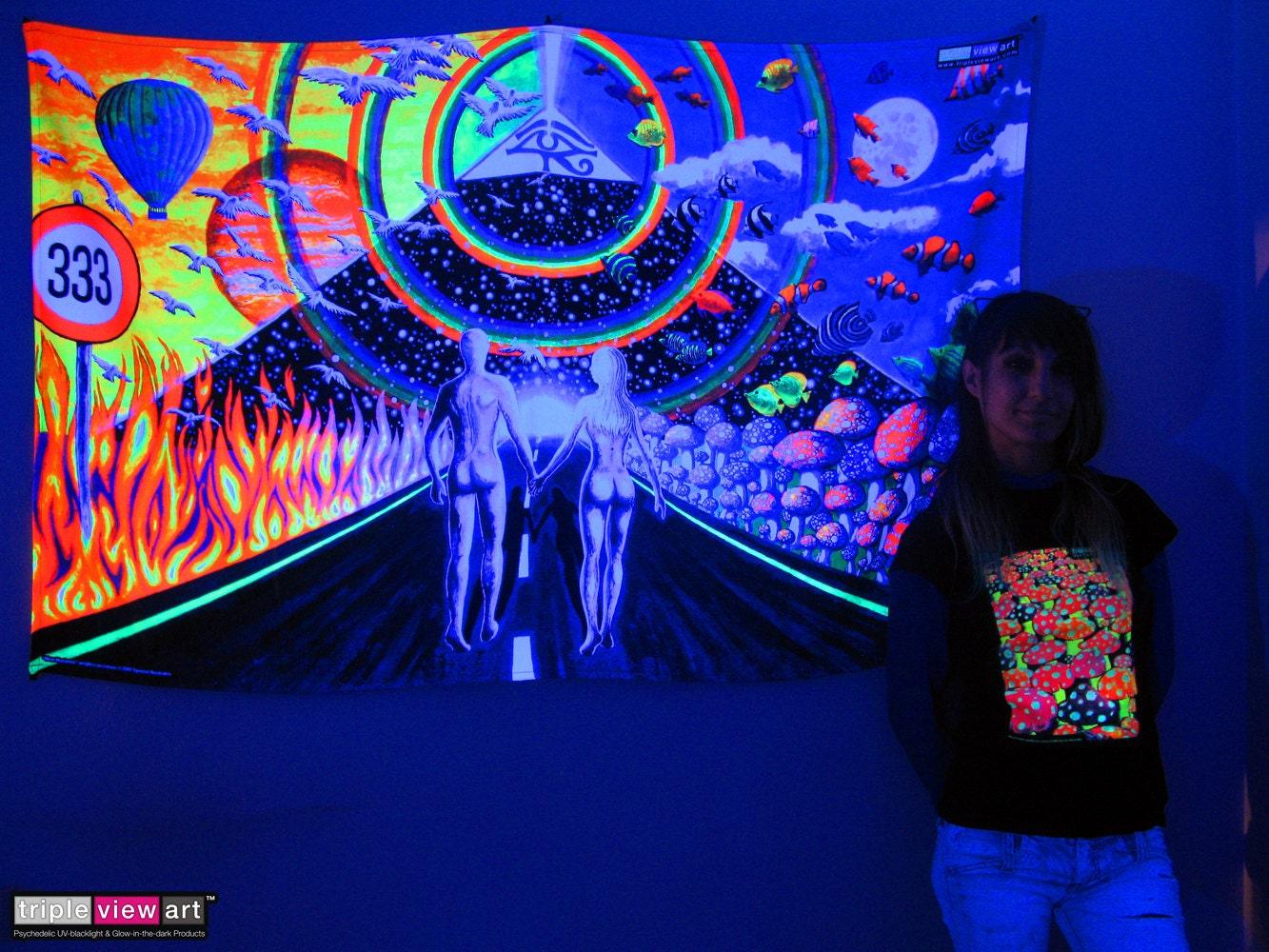 New Horizons Uv Black Light Fluorescent Glow Psychedelic Psy