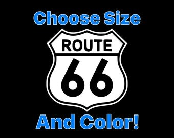 Route 66 Vinyl Decal Route 66 Sticker Laptop Window Bumper Yeti Tumbler etc...